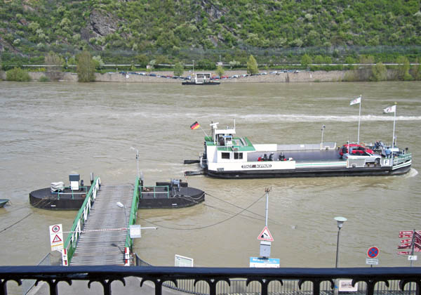 Ferry in front of my Room, Boppard