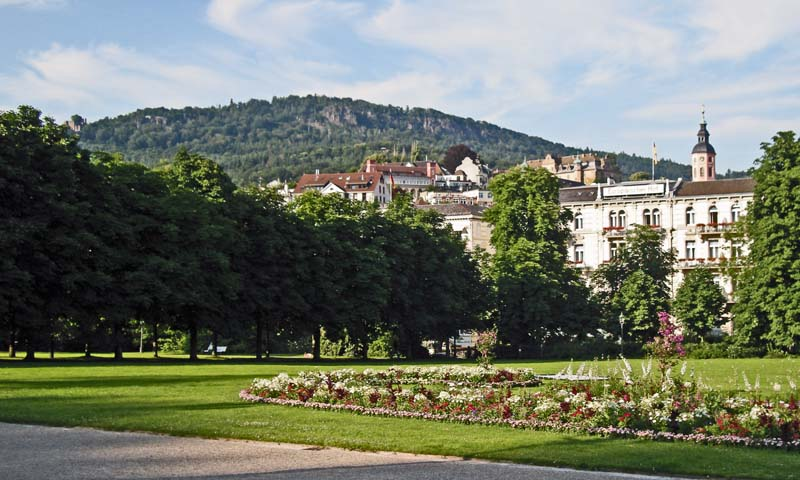 View from Kurhaus garden, Baden Baden