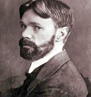 English novelist D H Lawrence, 1885-1930