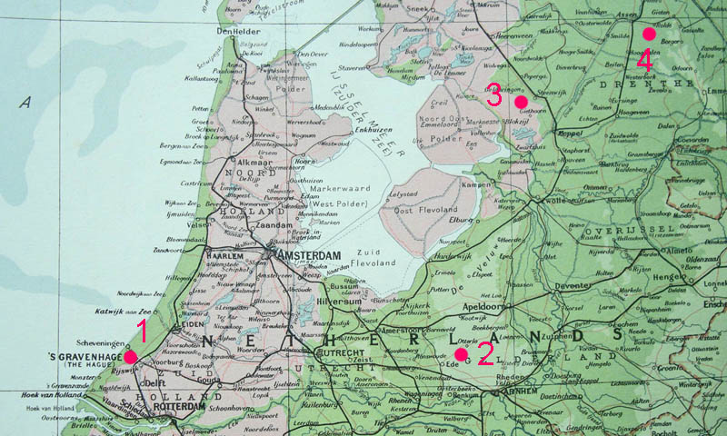 Reference map of Holland